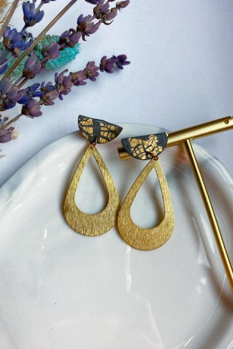 Modern Polymer Clay Dangle Earrings | Indie Indian Earrings